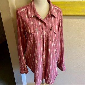Kavu button front shirt pink sz XL good condition
